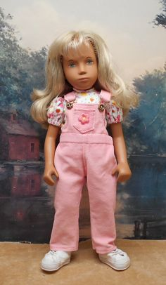 2-piece Pink Overalls Set to fit 17 inch by BevBeeseDollyTogs