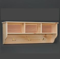 3 Cubby Wall Shelf |