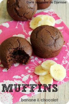 Muffins chocolat-banane, sans gluten, sans soja {cuisine végétalienne}                                                                                                                                                                                 Plus