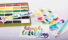 Gansai Tambi Water Colours Set Review Amp Demo Plus Stamping