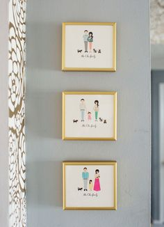 Oh Joy Family Portrait by Rifle Paper Co. ~ Joy updates the Custom cards every few years, thus a nice portrait to frame!