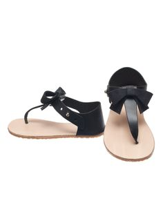 Zuzii Vivi Sandals in Charcoal Bow