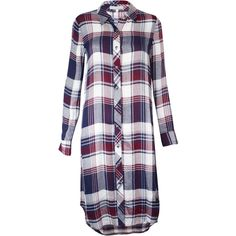 Plaid Button Down Tunic (€39) ❤ liked on Polyvore featuring tops, tunics, plaid button up shirts, short-sleeve button-down shirts, plaid collared shirts, button up tunic and shirt tunic