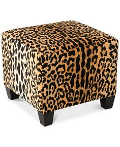 Square Ottoman by Cloth Co at Gilt Animal Print Furniture, Animal Print Decor, Animal Prints, Leopard Bedroom, Leopard Chair, Cheetah, Unique Furniture, Diy Furniture, Furniture Outlet