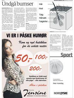25. Marts 2013 - Hirtshals & Bindslev Avis bringer Danish Skin Cares guide til at undgå bumser