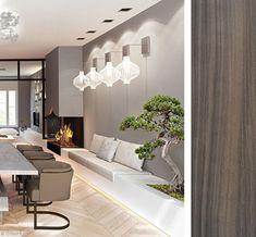 Modern Kitchen Interiors, Modern Kitchen Design, Home Decor Kitchen, Deco Design, Küchen Design, House Design, Interior Design, Living Room With Fireplace, Living Room Grey