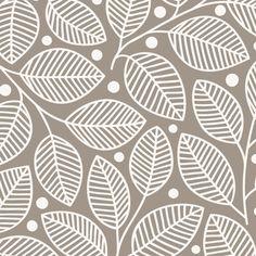 Canvas - Leaves & Berries Pewter #patterns