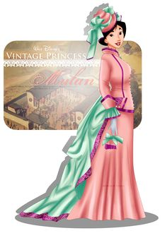Vintage Princess - Mulan by selinmarsou on deviantART