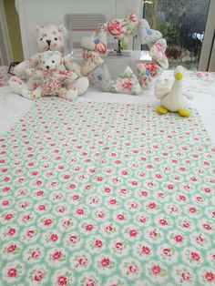 BN Very Pretty Cath Kidston Haberdashery Cotton Remnant In Green Provence Rose