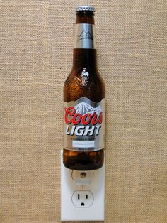 Delightful Coors Light 12oz. Glass Bottle Night Light