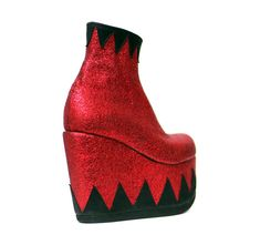 1fcb67a866a Circus Ringmaster Red Black Metallic Platform Ankle Boots - Handmade to  order by Isabella Mars