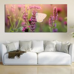 Butterfly spring πανοραμικός πίνακας σε καμβά