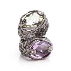 Brigitte Adolph - rings, silver & prasolithe/amethyst