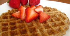These waffles are gluten-free (as long as you use gluten-free rolled oats), full of healthy fats from the flaxseeds and nuts, oil free a...