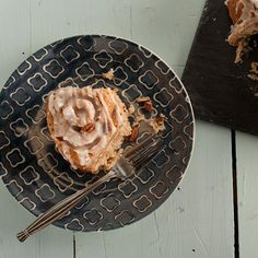 Take to your cinnamon bun with a hefty fork.