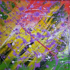 Purple rain part one 30x30cm #acrylic #canvas #painting # purple # colours