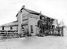 Juan Crisostomo Vejar Stage Station on Ventura road, present day Agoura, 1886.