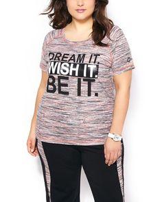 ActiveZone Plus-Size Printed T-Shirt #penningtons #plussizefashion