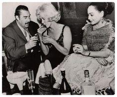 Indio Fernandez, Marilyn Monroe and Columba Dominguez
