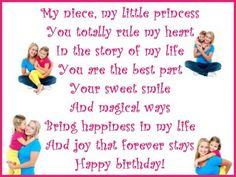 Cute birthday poem for a niece from her aunt. via princesswithapen.hubpages.com