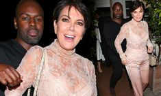 The 61-year-old Kardashian-Jenner matriarch slid into a lacy pink top that offered a glimpse at her generously endowed cleavage and light bra while out in Santa Monica on Friday.