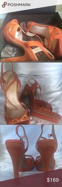ELIE TAHARI Nellie Platform Sandal sz 40 NIB ELIE TAHARI Nellie Platform Sandal sz 40 NIB; 100% guaranteed authentic leather copper/orange platform sandals NEW IN BOX with dust bag. SOLD OUT! Elie Tahari Shoes Sandals