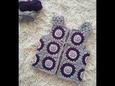 crochet granny squares vest at DuckDuckGo Crochet Shirt, Crochet Baby, Free Crochet, Crochet Granny, Crochet Designs, Knitting Designs, Crochet Patterns, Flower Granny Square, Granny Squares