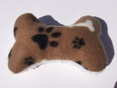 Dog Bone Toy, Paw Print Pet Toy, Plush Fleece Dog Stuffed Toys, Bone Shape Toys, No Squeaker, Squeak Free Toys, Stuffed Dog Toy by ComfyPetPads #Etsy #dogbones #pettoys #dogs