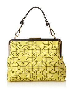 MARNI Women's Footed Frame Handbag, Yellow/Black at MYHABIT