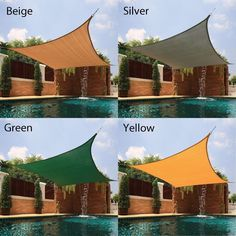 Shop for Cool Area Right Triangle Sun Shade Sail for Patio in Color Blue. Get free delivery On EVERYTHING* Overstock - Your Online Garden & Patio Shop! Outdoor Spaces, Outdoor Living, Outdoor Decor, Porches, Shade House, Cement Patio, Patio Shade, Pool Shade, Backyard Shade