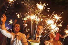 Sparklers go well with a dry summer night, as well as adding a little extra to your once in a lifetime experience.