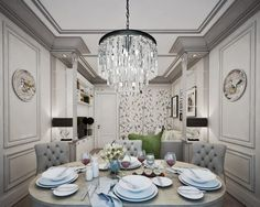 Beautiful Neo-Classical House in Grey & Beige - http://www.interiordesign2014.com/architecture/beautiful-neo-classical-house-in-grey-beige/