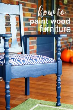 DIY painted furnitur