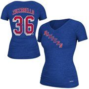 Mens New York Rangers Mats Zuccarello Reebok Royal Blue Name & Number V-Neck T-Shirt #MyNHLWishListSweeps
