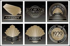Art Studio Design, Art Deco Design, Art Nouveau, Art Deco Logo, Epic Art, Art Deco Era, Art Deco Fashion, Design Elements, Pattern Design