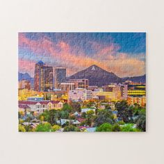 Tuscon Cityscape Jigsaw Puzzle - Sometimes we have to make our own fun. Old Fashioned Games, Family Fun Night, Childrens Gifts, Kittens, Cats, Puzzles For Kids, Have Some Fun, Robots, Gifts For Kids
