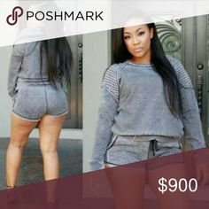 [Plus: 1X] COMING SOON WEIGHT LOSS TRACKSUIT Polyester and spandex mix. Long sleeves for help with sweating when working out. Cute style for being motivated to stick with weight loss.  Top & Shorts included  Sizes 1X = 14/16  Size up for a loose fit  Arriving Friday, March 17th Breaux-Mode Shorts