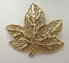 """1928 Brooch Pin Gold Tone Large 3"""" 20s Style Victorian Metal 348 #1928Company"""
