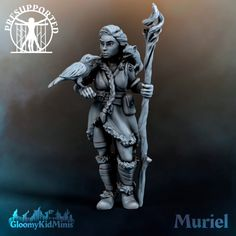 3D Printable Muriel, Druid of the Plains by Gloomy Kid Print Pictures, Printables, Models, Games, Prints, Kids, Top, Fictional Characters, Plays