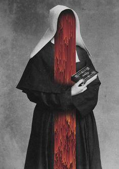 The Glitch Collage Art series by Giacomo Carmagnola - 谷德设计网 Half Elf, Art Et Illustration, Glitch Art, Dark Photography, Horror Art, Art Plastique, Macabre, Dark Art, Collage Art
