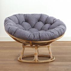 Blazing Needles 60 Inch Outdoor Double Papasan Cushion Freeport Ebony    93304 REO 12 | Products | Pinterest | Papasan Cushion And Products