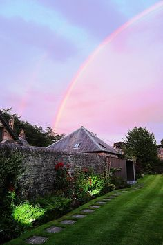 Craigatin House Pitlochry Rainbow Sunset