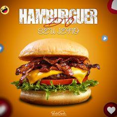 Food Graphic Design, Graphic Design Inspiration, Indie Art, Photoshop, Layout Design, Hamburger, Social Media, Ethnic Recipes, Sushi