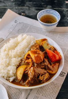 Hong Kong style beef curry has a concentrated strong curry flavor mellowed by coconut milk and a long simmering time. The best beef curry uses a fatty cut of beef chuck with a some tendon or gristle producing the perfect texture. Asian Recipes, Beef Recipes, Cooking Recipes, Ethnic Recipes, Chinese Recipes, Turkish Recipes, Hongkong, Curry Dishes, Asian Cooking