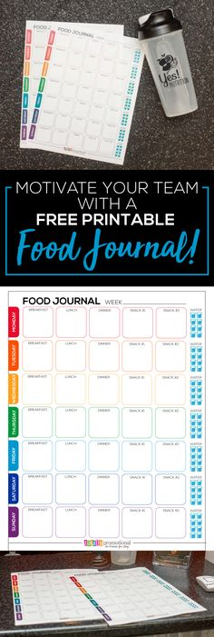 Running out of ideas to inspire your fitness team or group? Our free printable food journal might be the kick in the pants they need! Check out this #foodjournal template and more ways to motivate your team (plus a free smoothie recipe)!