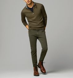 Shades of olive and army green for fall