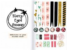 Sticker Pack with Free GoodNotes Paper Templates Instant Digital Journal, Good Notes, Banner Printing, Printable Planner, Printables, Handmade Items, Handmade Gifts, Paper Templates, Digital Scrapbooking