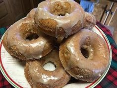 Applesauce Baked Doughnuts with Maple Glaze