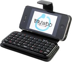 Coolest gadgets – iPhone 4 Leather Case with Bluetooth Keyboard – – Latest top geek gadgets Mini Keyboard, Bluetooth Keyboard, Geek Gadgets, Cool Gadgets, Iphone 4 Cases, Phone Case, Ipad Accessories, Gadget Gifts, Tecno
