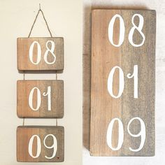 Wedding/Anniversary Date sign by GalvanizedGypsy on Etsy